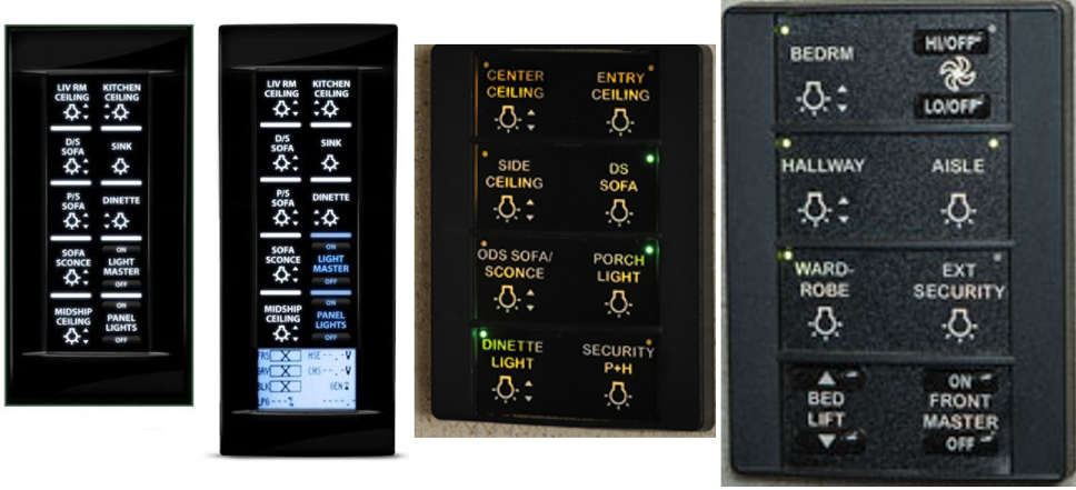 Common Spyder Controls Panels