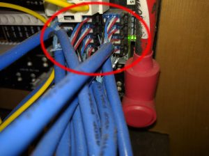 c) Behind Spyder Controls House Panel